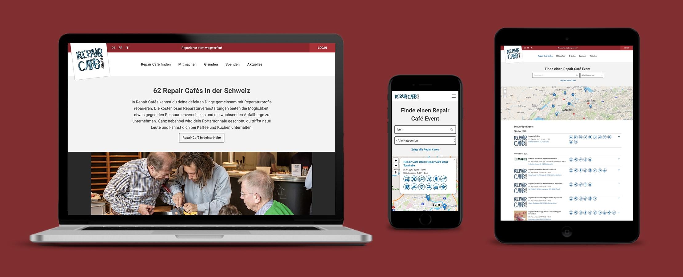 Neue Webseite für Repair Cafés und Konsumenten!
